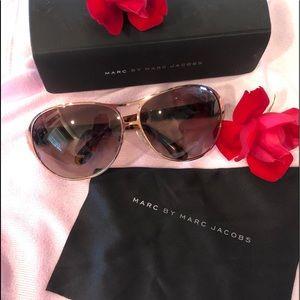 Marc Jacobs Gold Aviator Tortoise Sunglasses